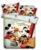 *睡美人寢具工坊*迪士尼米奇系列《甜蜜野餐》雙人床包組/不含被套  超柔磨毛