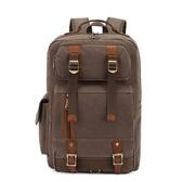 後背包-帆布戶外旅行大容量多口袋男雙肩包5色73re4[時尚巴黎]