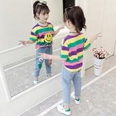女童T恤 女童t恤短袖夏裝2020新款兒童韓版洋氣半袖7夏季中大童純棉上衣11【快速出貨】