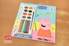 Peppa Pig 粉紅豬小妹 佩佩彩繪畫 8色水彩 6色蠟筆 PG032B