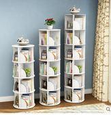 創意旋轉書架360度書櫃現代簡約置物架兒童轉角桌上簡易學生落地【五層】