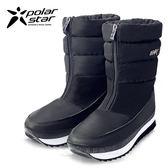 PolarStar 女 保暖雪鞋│雪靴│冰爪『霧黑』 P16628 (內厚鋪毛/ 防滑鞋底) 雪地靴.非UGG靴.雪地必備
