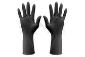 日本原裝親膚絲蛋白乳膠加長型黑手套【HAiR美髮網】