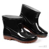 雨鞋 高筒雨鞋男保暖低幫水鞋男士中筒防水鞋雨靴短筒水靴厚底膠鞋套鞋 LN4247【Sweet家居】