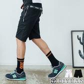 【OBIYUAN】休閒短褲 韓版 防潑水拉鍊 工作短褲 共2色【X8017】