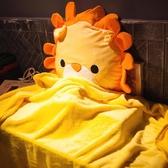 卡通動物汽車抱枕被子兩用靠墊腰靠枕午睡枕頭空調毯子辦公室沙發
