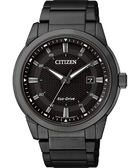 【送米奇電扇】CITIZEN Eco-Drive 都會時尚光動能腕錶-黑/42mm BM7145-51E