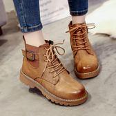 馬丁靴女英倫風2019春秋新款靴子女冬靴加絨學生百搭網紅chic短靴 降價兩天