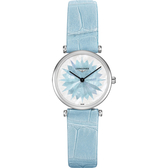 LONGINES 浪琴 La Grande 新嘉嵐粉彩系列女錶-藍/24mm L42094032