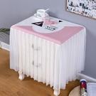 家居防塵罩 新款防塵床頭柜蓋巾布印花萬能蓋巾防塵罩多用巾北歐風微波爐蓋巾