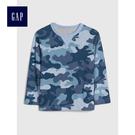 Gap男嬰幼童 舒適長袖T恤 496405-藍色迷彩