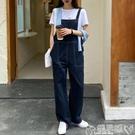 連身褲 夏裝2020新款韓版直筒牛仔褲背帶褲寬鬆學生闊腿顯瘦復古連體褲女 嬡孕哺