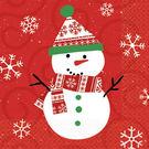 聖誕 餐具 紙巾30入-歡樂雪人