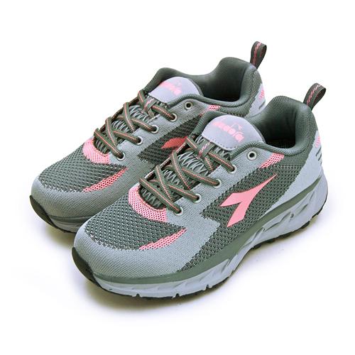 LIKA夢 DIADORA 迪亞多那 戶外野趣郊山越野鞋 POWER FORM 氣動系列 灰粉 7058 女