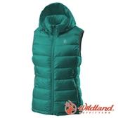 【wildland 荒野】女 700FP可拆帽輕羽絨背心『藍綠』0A62171 戶外 登山 露營 出國 賞雪 冬季 禦寒 保暖