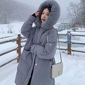 羽絨夾克-白鴨絨-連帽毛領保暖秋冬女外套5色73zc6[時尚巴黎]