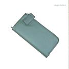 真皮長夾-頭層牛皮大容量男女中性錢包手拿包手機包-附手腕帶 AngelNaNa (SMA0284)
