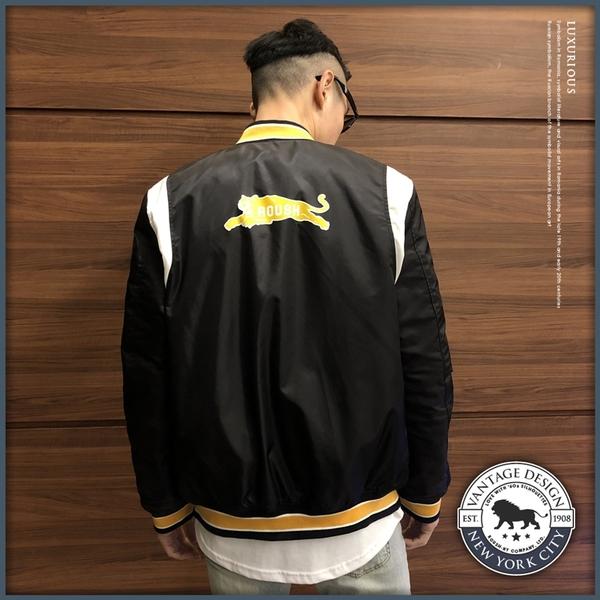 【Roush】 美式復古風格鋪棉棒球外套 -【915630】