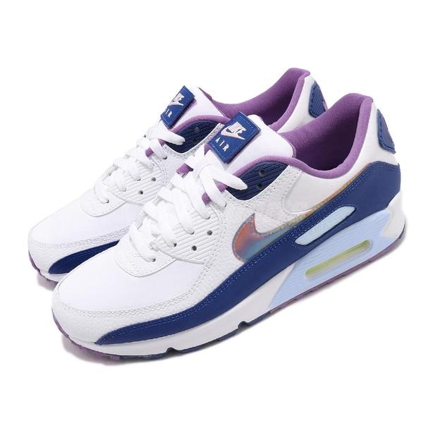 Nike 休閒鞋 Air Max 90 SE Easter 白 紫 男鞋 復活節 彩蛋 運動鞋【PUMP306】 CT3623-100