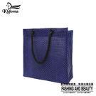 手提袋-編織袋(S)-深藍黑-03C...