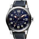 廣告款 Timberland TILDEN 摩登時尚石英時尚腕錶-藍/48mm TBL.14644JS/03