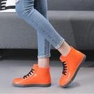 雨鞋女韓國可愛時尚款外穿水鞋雨靴短筒防水防滑加絨保暖低筒廚房 新年優惠