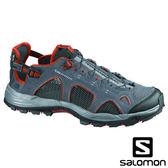 【SALOMON 法國】男 TECHAMPHIBIAN 3 水陸鞋 (鞋面超透氣 / 快速綁帶)『藍灰/瀝青/番茄紅』373267