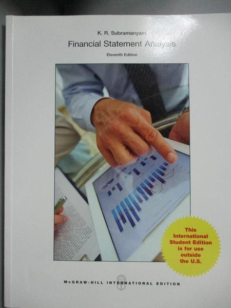 【書寶二手書T9/大學商學_QIJ】Financial Statement Analysis_Subramanyam
