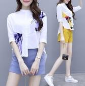 短褲套裝二件式S-2XL實拍網紅休閒時尚顯瘦短褲很仙的兩件套法國小眾洋氣H430.9611 皇潮天下