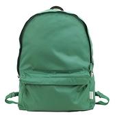 【南紡購物中心】agnes b.條紋織布鐵環尼龍後背包(綠)