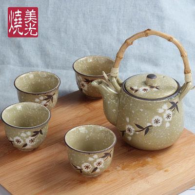 【一套】櫻花提梁壺瓷