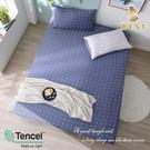 【BEST寢飾】天絲床包三件組 特大6x7尺 一粒落塵-藍 100%頂級天絲 萊賽爾 附正天絲吊牌 床單