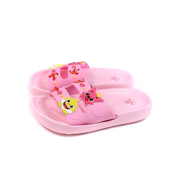 碰碰狐 鯊魚寶寶 BABY SHARK 拖鞋 戶外 粉紅色 中童 童鞋 PIKS96533 no891