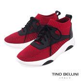 Tino Bellini 美式潮流運動風綁帶厚底襪套鞋_ 紅 F83020