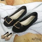 娃娃鞋 絨布水鑽扣平底鞋 MA女鞋 T7113