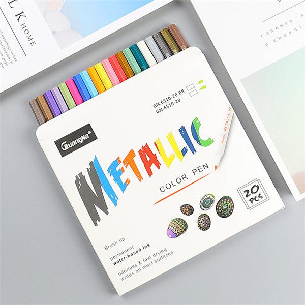 【 廣納 20色盒裝 金屬彩繪筆 】 GuangNa Metallic Pen 水性 照片筆 菲林因斯特