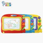兒童繪畫板 磁性畫板寶寶繪畫板嬰兒玩具彩色涂鴉板寶寶寫字板大號 俏女孩