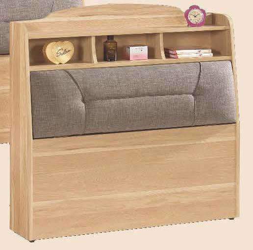 【森可家居】奈德3.5尺書架型床頭箱 7CM172-12 單人置物床頭箱