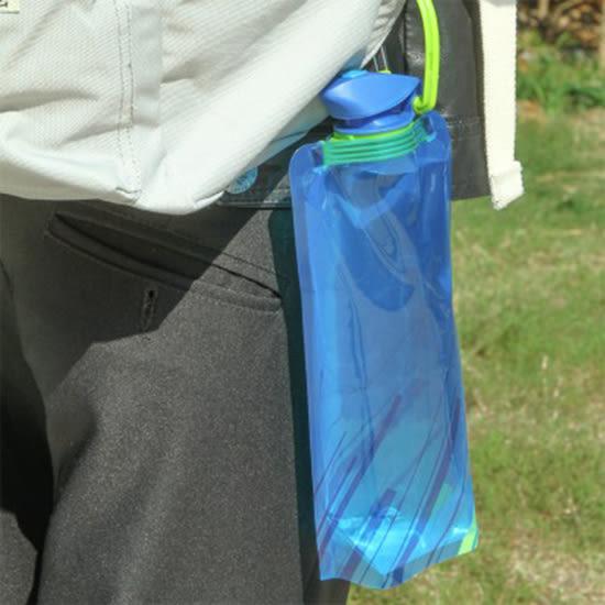 ✭慢思行✭【P648】戶外折疊水袋 便攜水壺 騎行運動水瓶 儲水袋 炊水桶 環保水壺 慢跑 隨身
