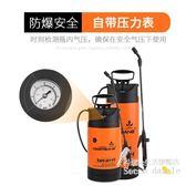 澆花園藝氣壓式手動噴霧器 農用洗車全銅噴桿帶壓力表   BS19991『科炫3C』