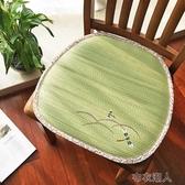 日式榻榻米草席坐墊夏季辦公室透氣涼席座墊學生教室宿舍椅子椅墊 布衣潮人