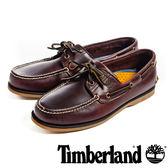 Timberland (男)經典雙孔帆船鞋-酒紅色