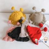 童帽 寶寶漁夫帽帽子冬季針織女童帽潮6個月1可愛秋冬兒童毛線帽女2歲0 6色