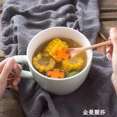 大號日式泡面碗帶蓋早餐杯宿舍學生陶瓷碗飯碗微波爐家用方便面碗 金曼麗莎
