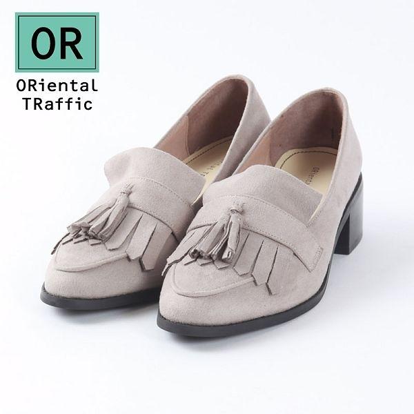 【ORiental TRaffic】小資女孩流蘇樂福鞋-氣質灰