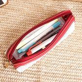韓國小清新簡約大容量筆袋女網格透明網紗狀