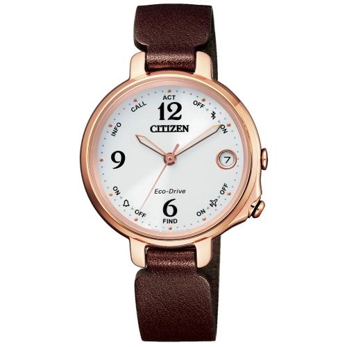 CITIZEN 星辰LADYS優雅質感藍芽光能腕錶/EE4028-10A