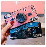 iPhone 7 Plus 全包手機殼 藍光手機套 復古相機保護殼 氣囊支架 防摔保護套 矽膠軟殼 情侶款背殼 i7