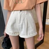 短褲 薄款休閑高腰顯瘦牛仔短褲女2020夏季新款寬松直筒闊腿褲子潮ins