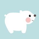 LOVIN 超萌韓版數字油畫動物系列可愛小白熊(4) 1幅